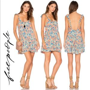Free People Ruffle Strap Floral Sun Dress